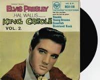 ELVIS PRESLEY King Creole Vol. 2 EP Vinyl Record 7 Inch RCA 1958